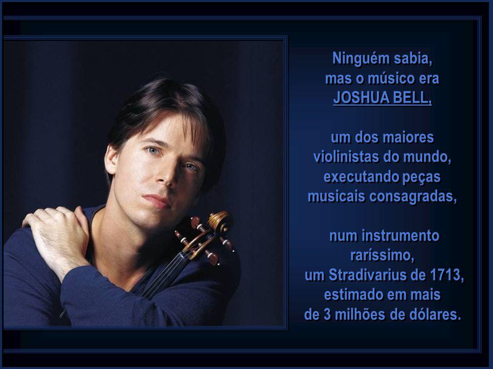 num instrumento raríssimo, um Stradivarius de 1713, estimado em mais