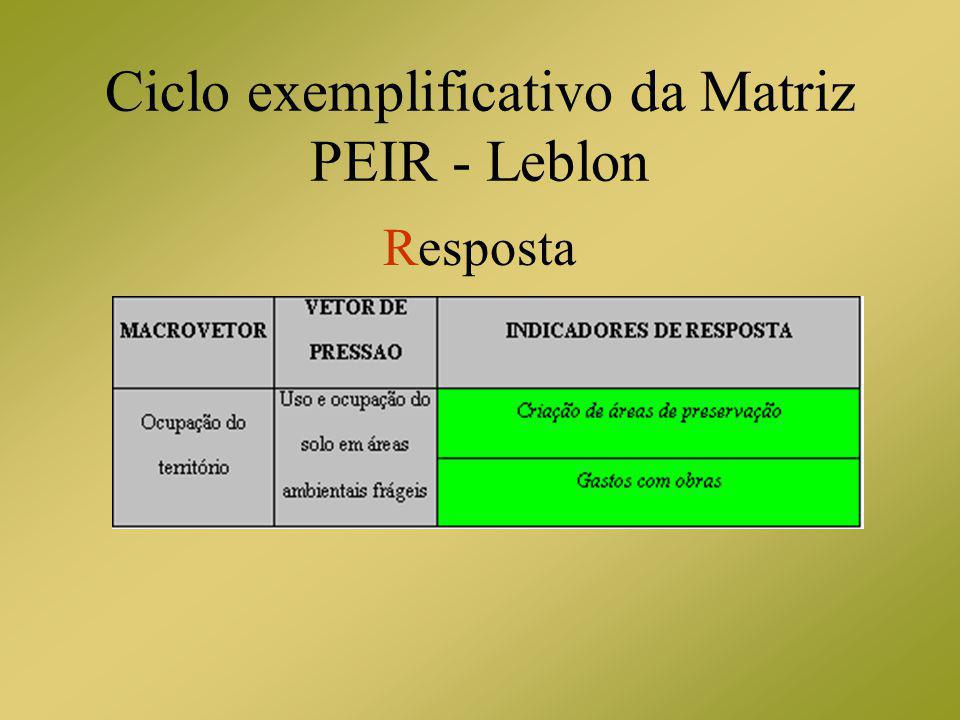 Ciclo exemplificativo da Matriz PEIR - Leblon