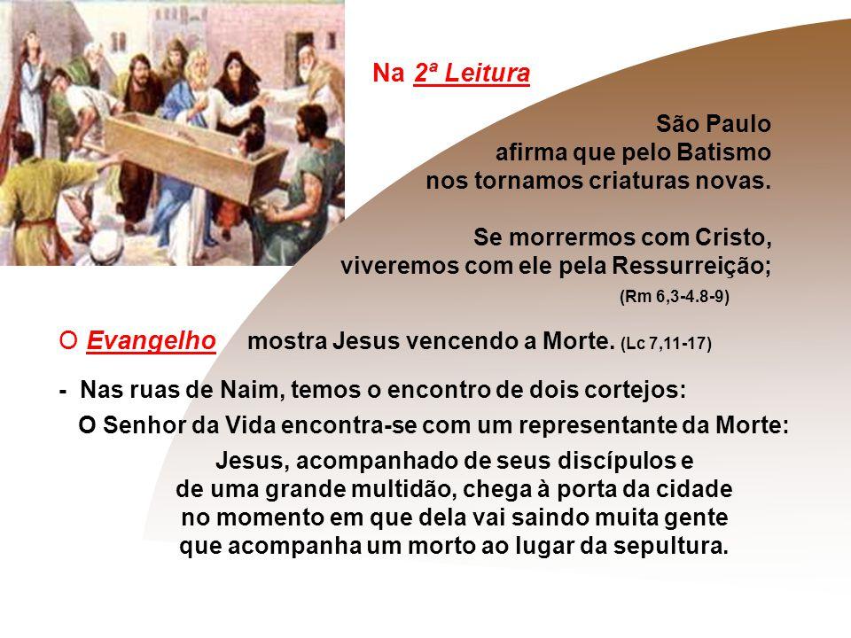 O Evangelho mostra Jesus vencendo a Morte. (Lc 7,11-17)