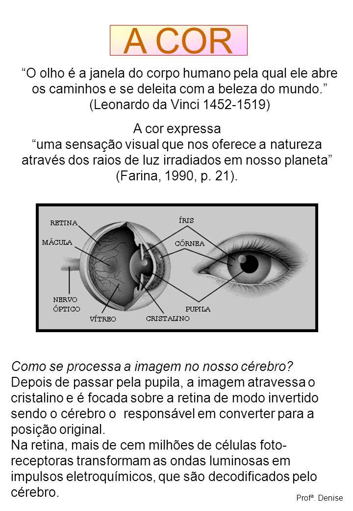 A COR O olho é a janela do corpo humano pela qual ele abre os caminhos e se deleita com a beleza do mundo.