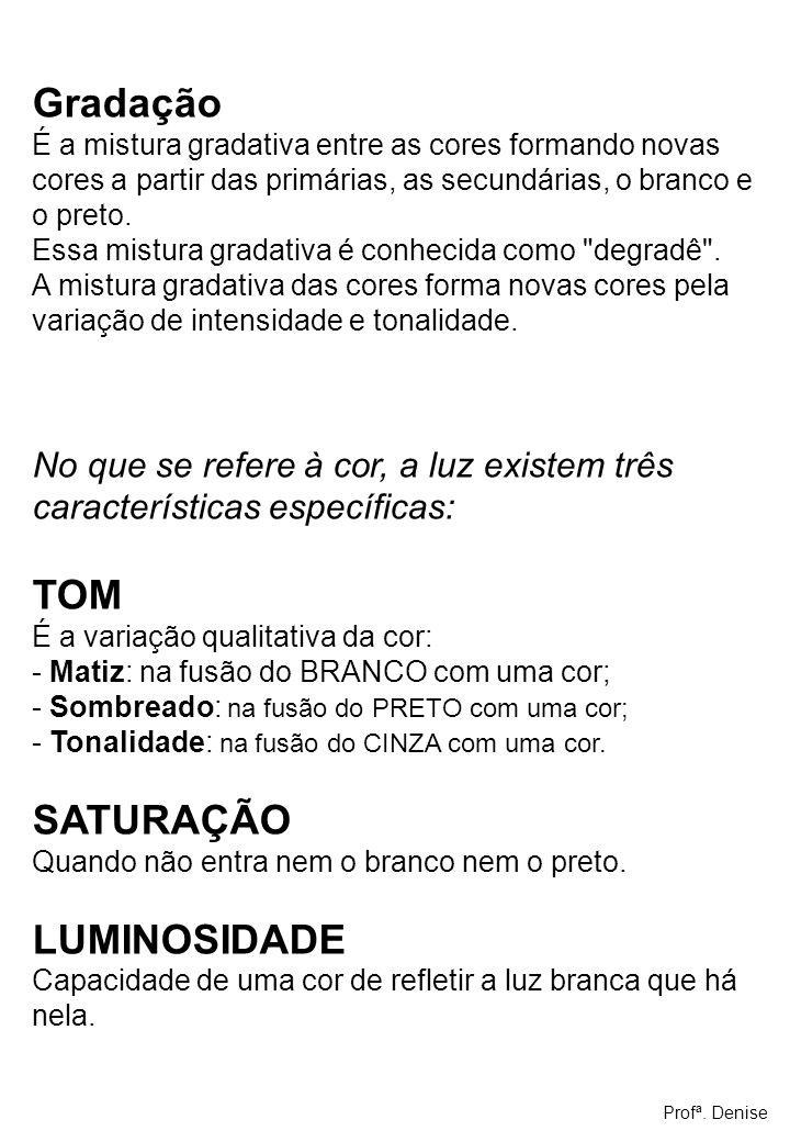Gradação TOM SATURAÇÃO LUMINOSIDADE