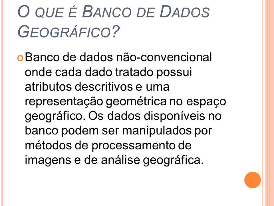 O que é Banco de Dados Geográfico