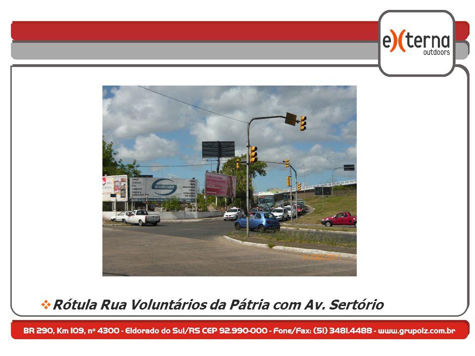 Rótula Rua Voluntários da Pátria com Av. Sertório