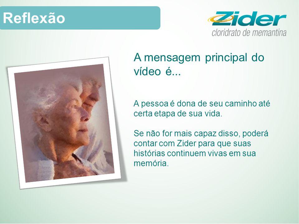 Reflexão A mensagem principal do vídeo é...