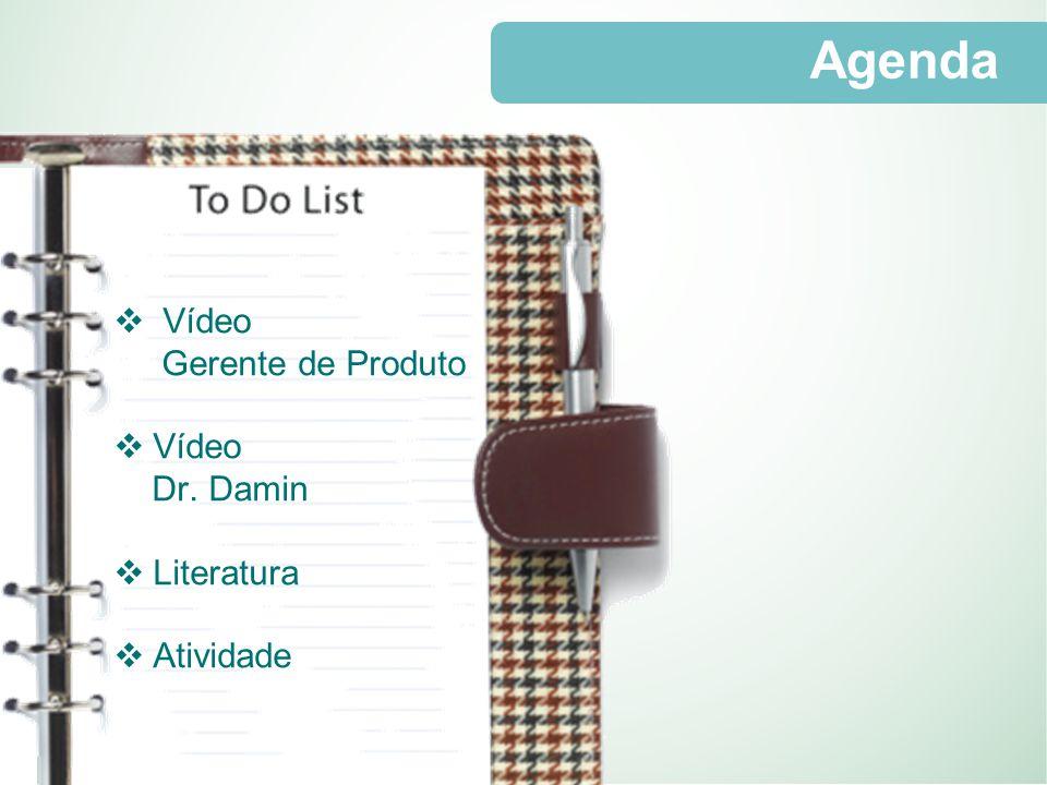 Agenda Vídeo Gerente de Produto Dr. Damin Literatura Atividade