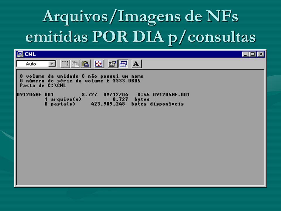 Arquivos/Imagens de NFs emitidas POR DIA p/consultas