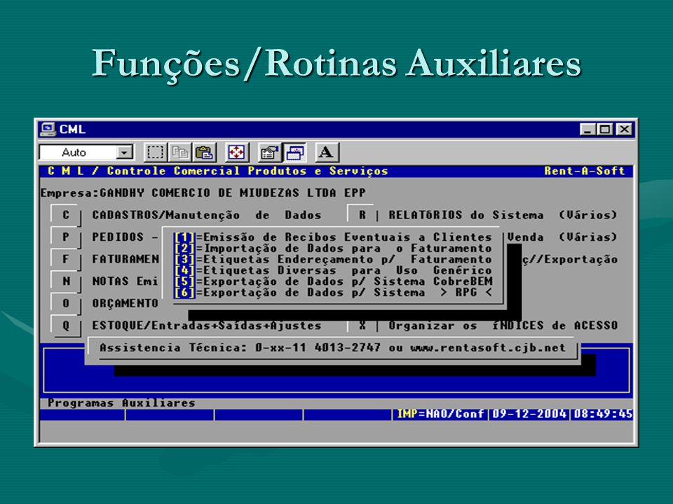 Funções/Rotinas Auxiliares