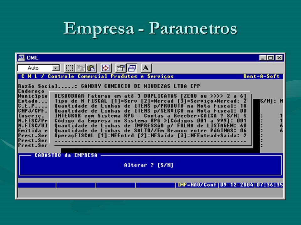 Empresa - Parametros