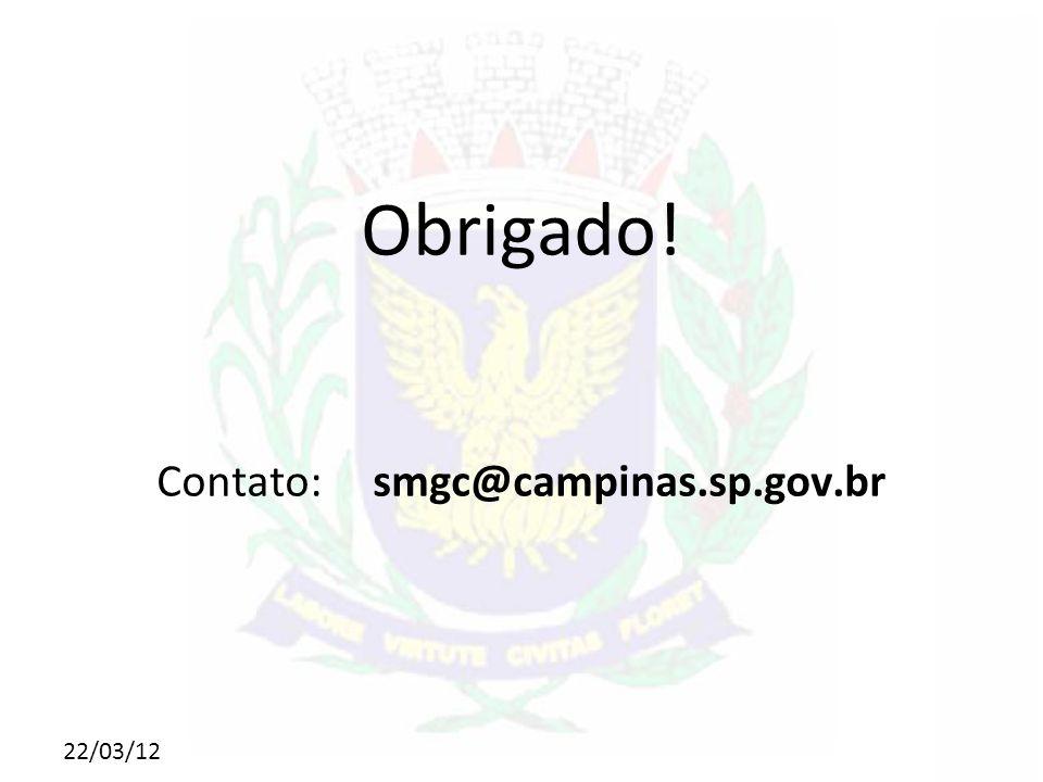 Contato: smgc@campinas.sp.gov.br