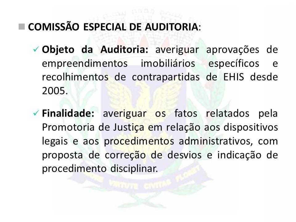 COMISSÃO ESPECIAL DE AUDITORIA: