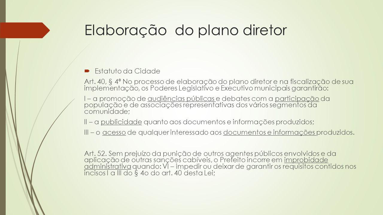 Elaboração do plano diretor