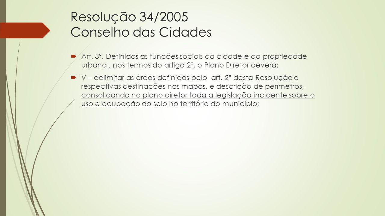Resolução 34/2005 Conselho das Cidades