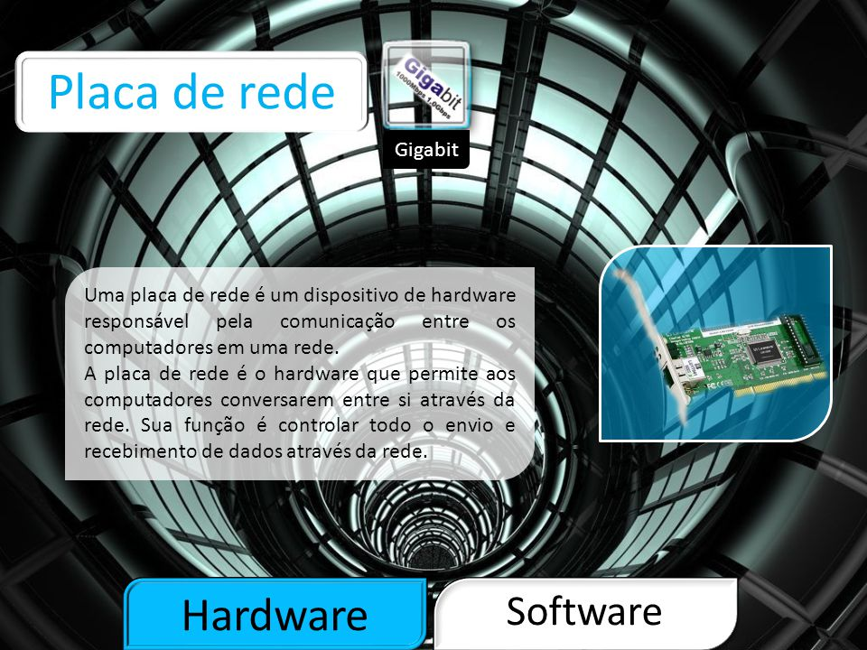 Placa de rede Hardware Software Gigabit