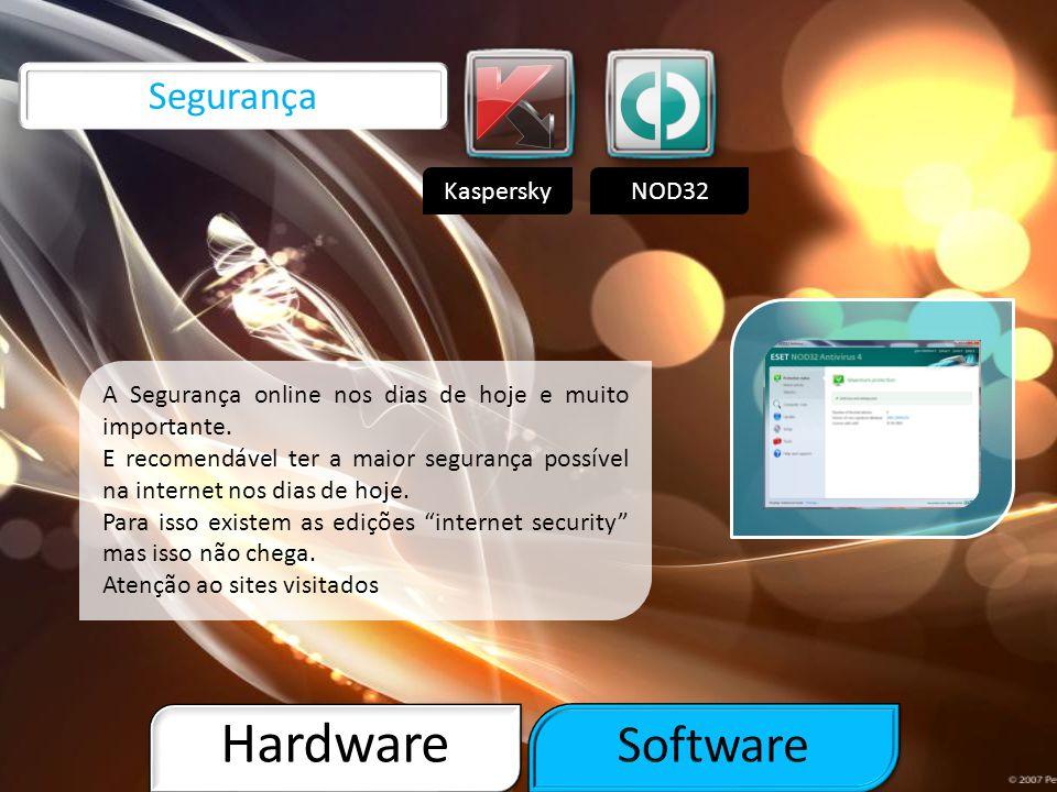 Hardware Software Segurança Kaspersky NOD32
