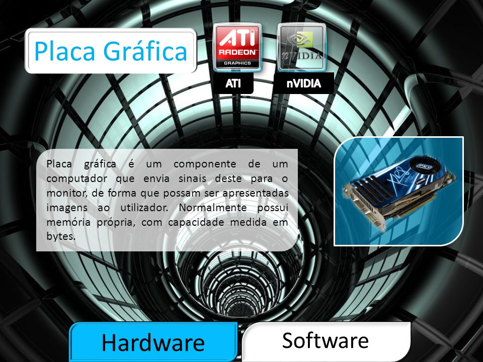 Placa Gráfica Hardware Software ATI nVIDIA
