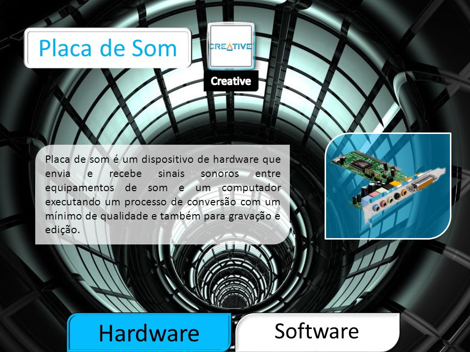 Placa de Som Hardware Software Creative