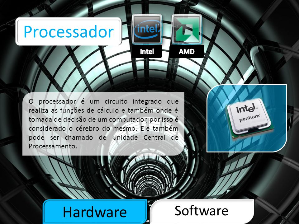 Processador Hardware Software Intel AMD
