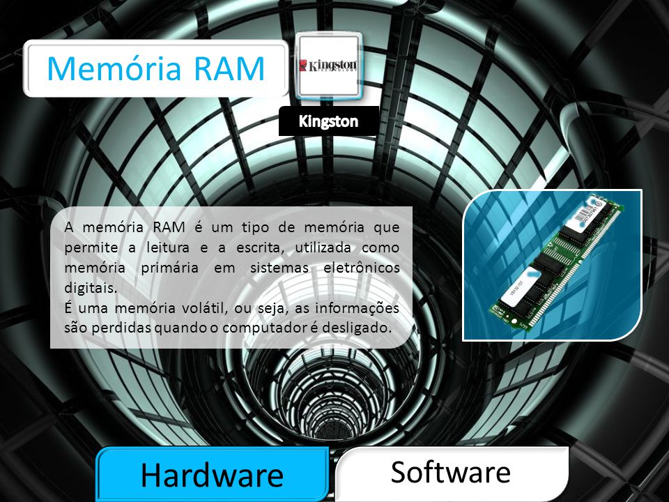 Memória RAM Hardware Software Kingston