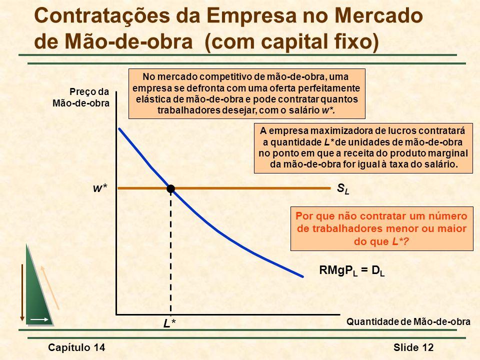 Contratações da Empresa no Mercado de Mão-de-obra (com capital fixo)