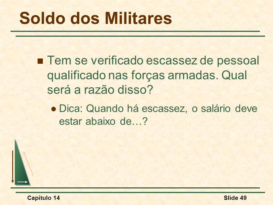 Soldo dos Militares Tem se verificado escassez de pessoal qualificado nas forças armadas. Qual será a razão disso