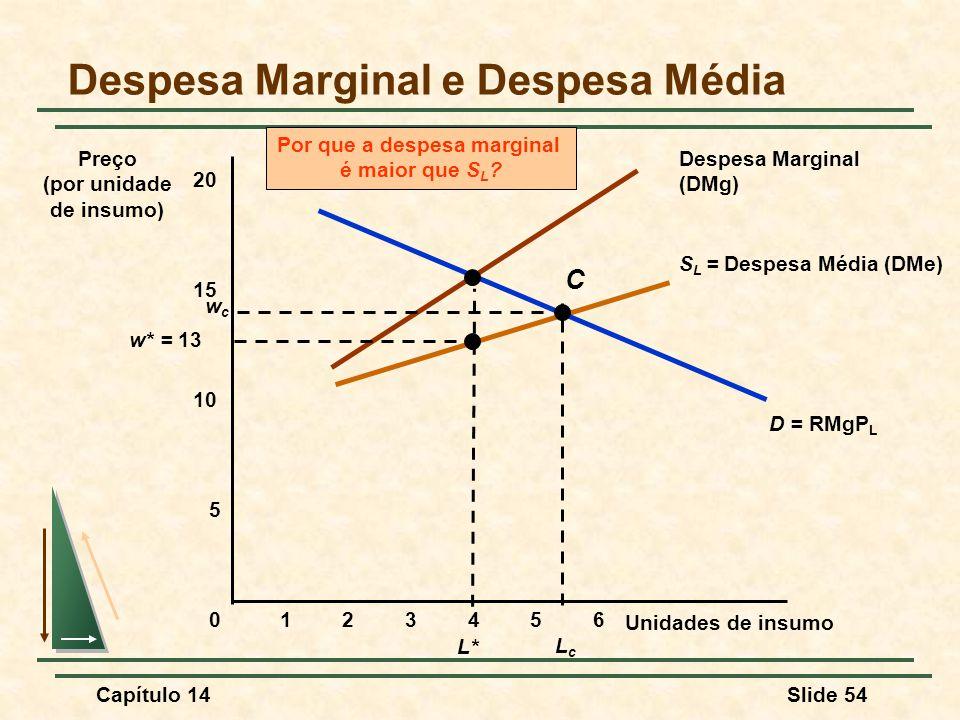 Despesa Marginal e Despesa Média