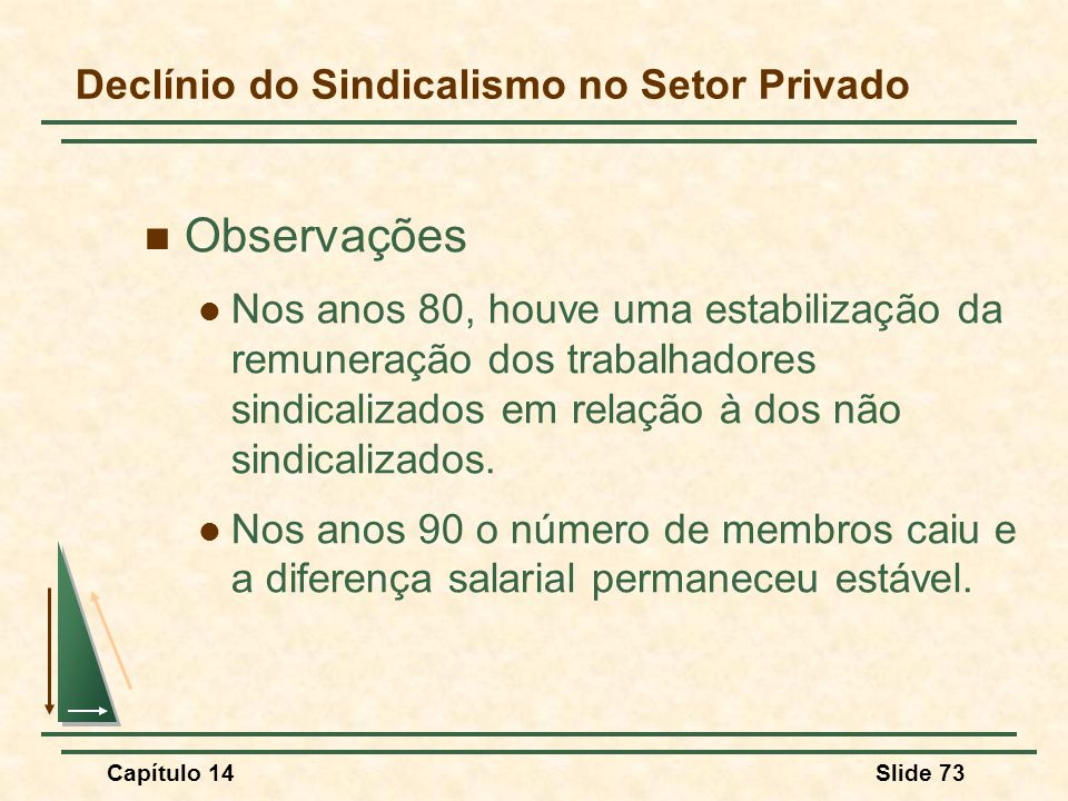 Declínio do Sindicalismo no Setor Privado