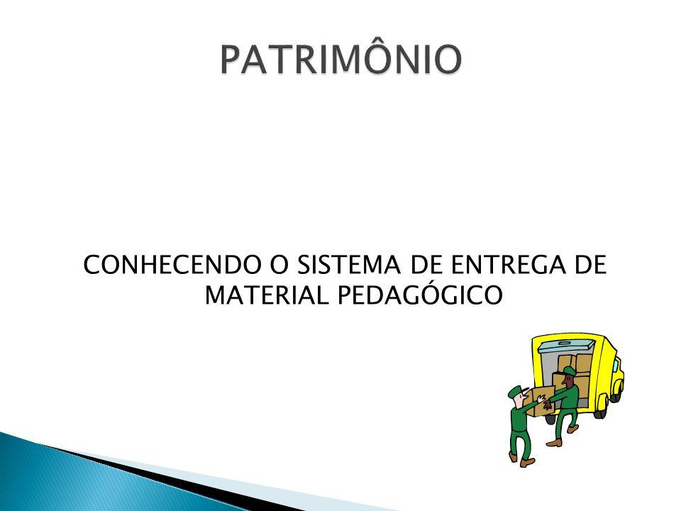 CONHECENDO O SISTEMA DE ENTREGA DE MATERIAL PEDAGÓGICO