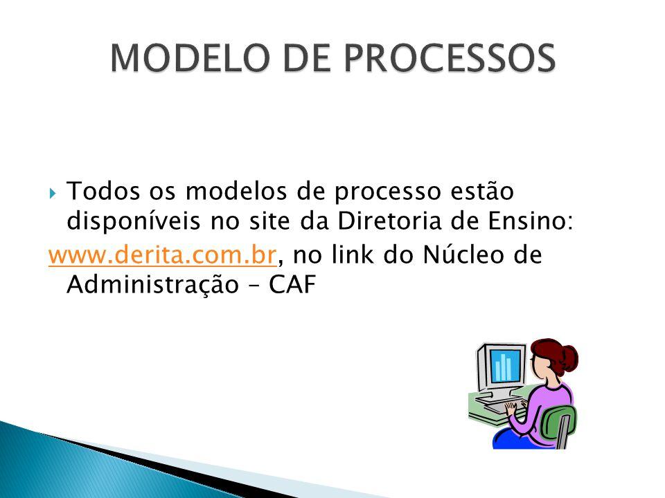 MODELO DE PROCESSOS Todos os modelos de processo estão disponíveis no site da Diretoria de Ensino: