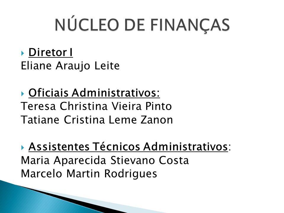 NÚCLEO DE FINANÇAS Diretor I Eliane Araujo Leite