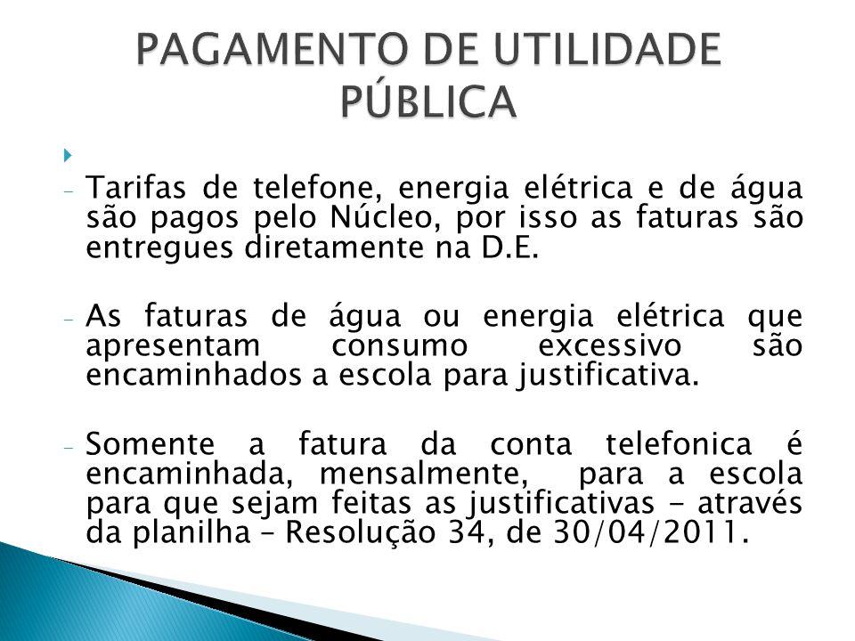 PAGAMENTO DE UTILIDADE PÚBLICA