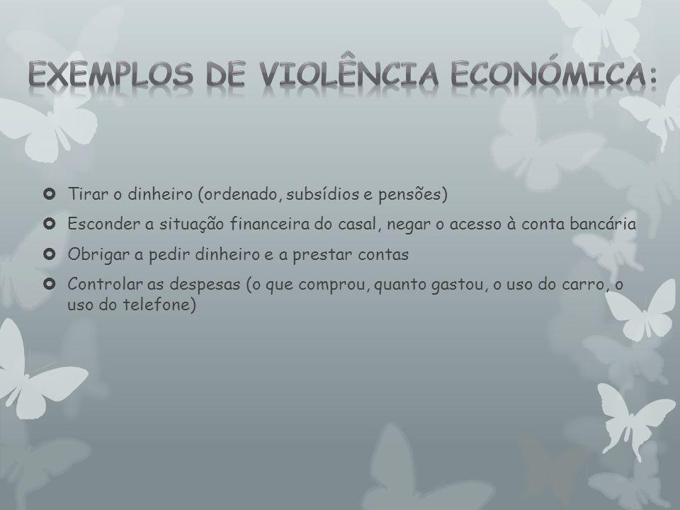 Exemplos de violência económica: