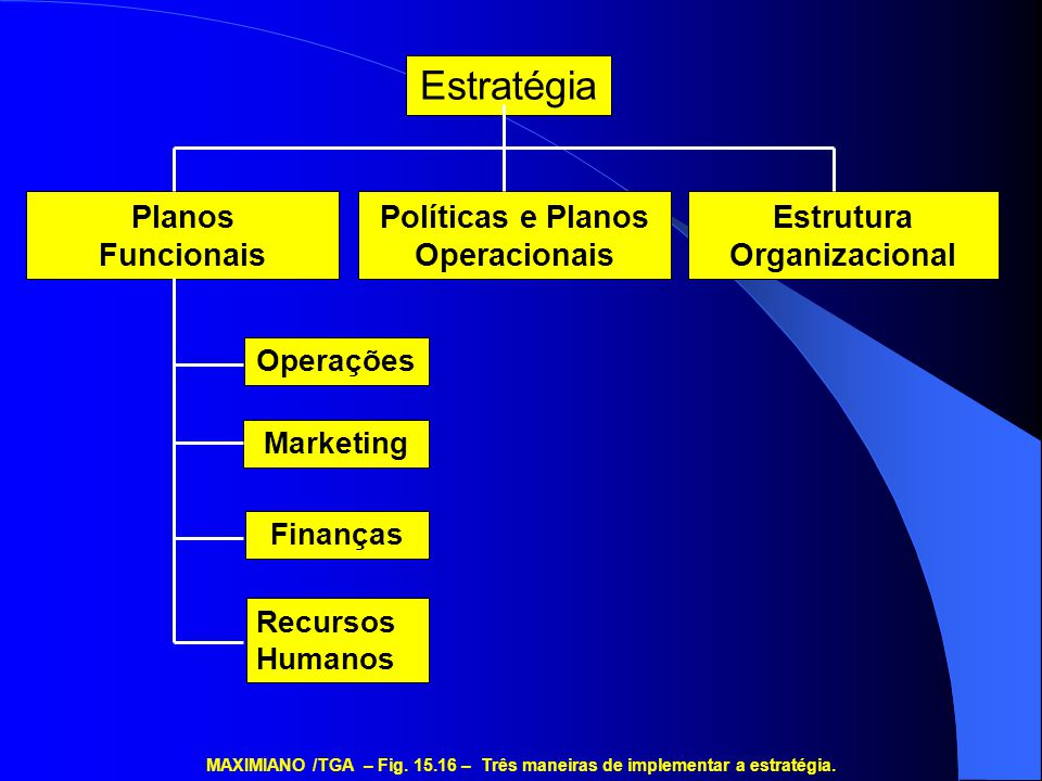 Políticas e Planos Operacionais Estrutura Organizacional