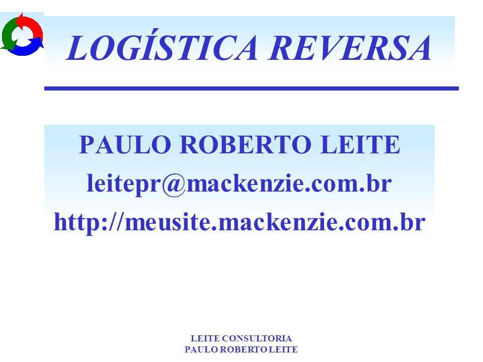 LOGÍSTICA REVERSA PAULO ROBERTO LEITE leitepr@mackenzie.com.br
