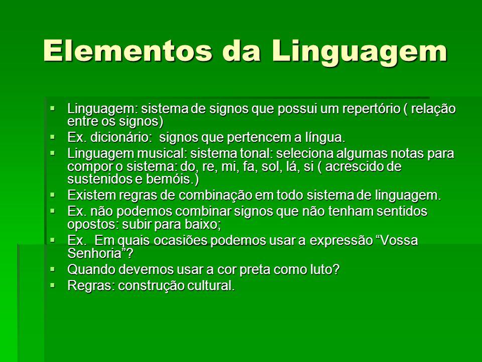 Elementos da Linguagem