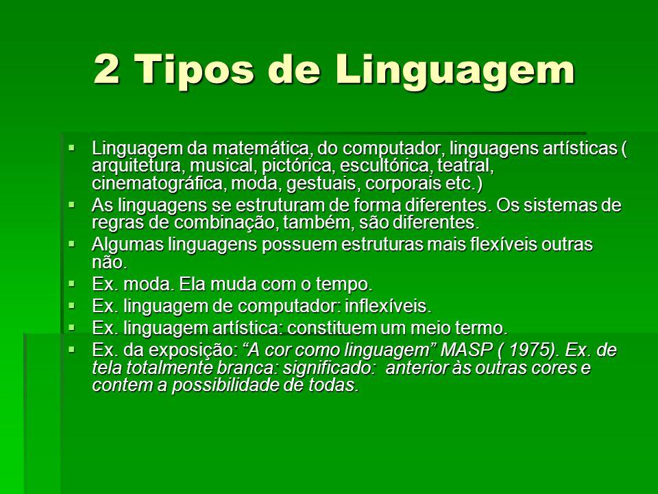 2 Tipos de Linguagem