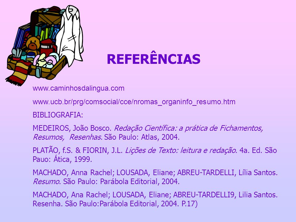 REFERÊNCIAS www.caminhosdalingua.com