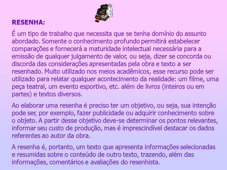 RESENHA: