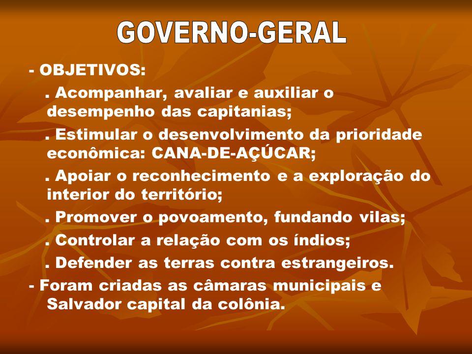 GOVERNO-GERAL - OBJETIVOS: