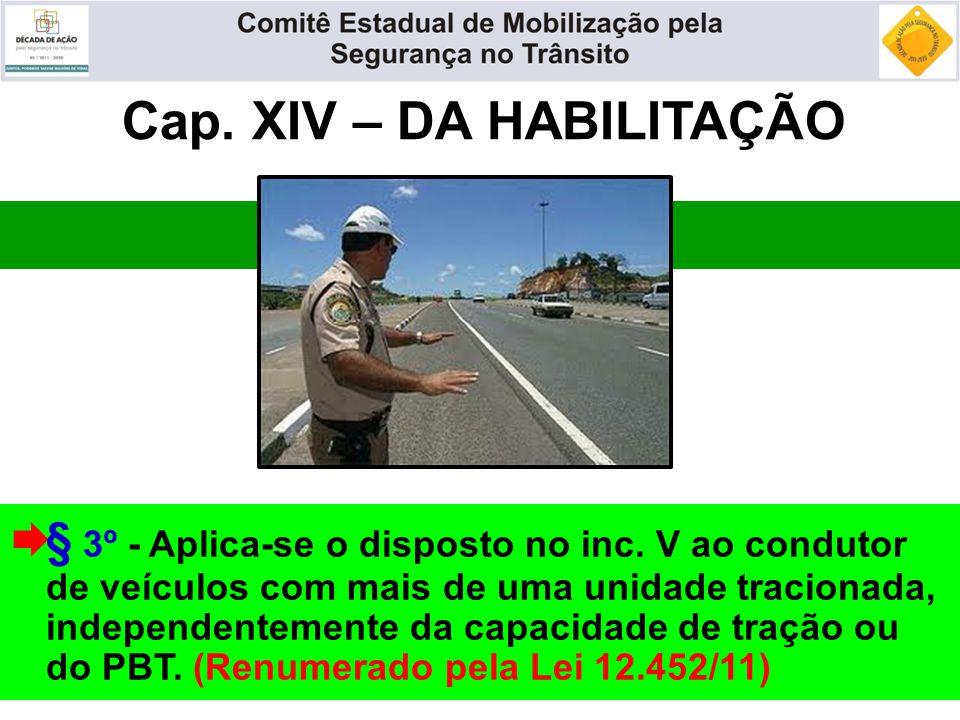 Cap. XIV – DA HABILITAÇÃO