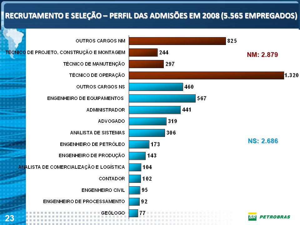 RECRUTAMENTO E SELEÇÃO – PERFIL DAS ADMISÕES EM 2008 (5