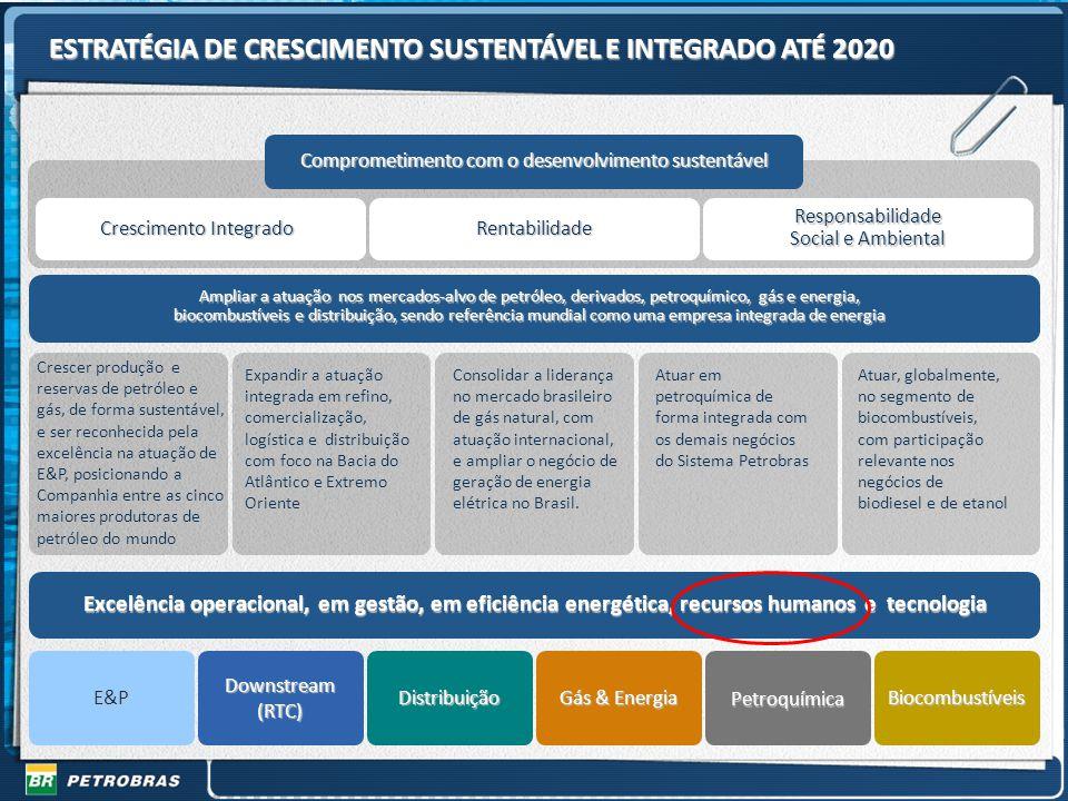 ESTRATÉGIA DE CRESCIMENTO SUSTENTÁVEL E INTEGRADO ATÉ 2020