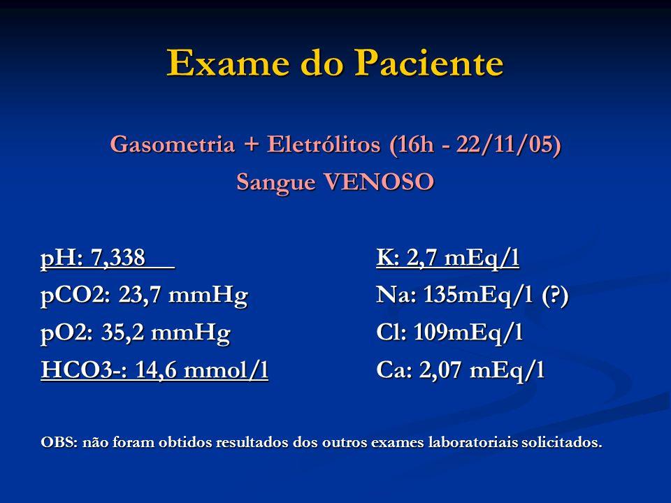 Gasometria + Eletrólitos (16h - 22/11/05)