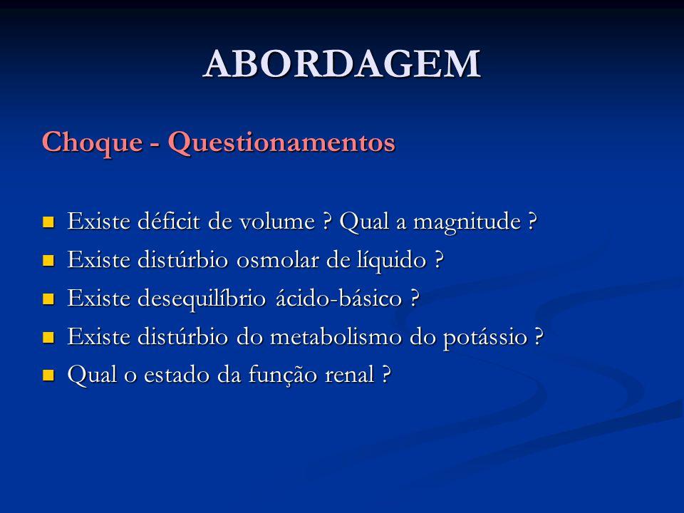 ABORDAGEM Choque - Questionamentos