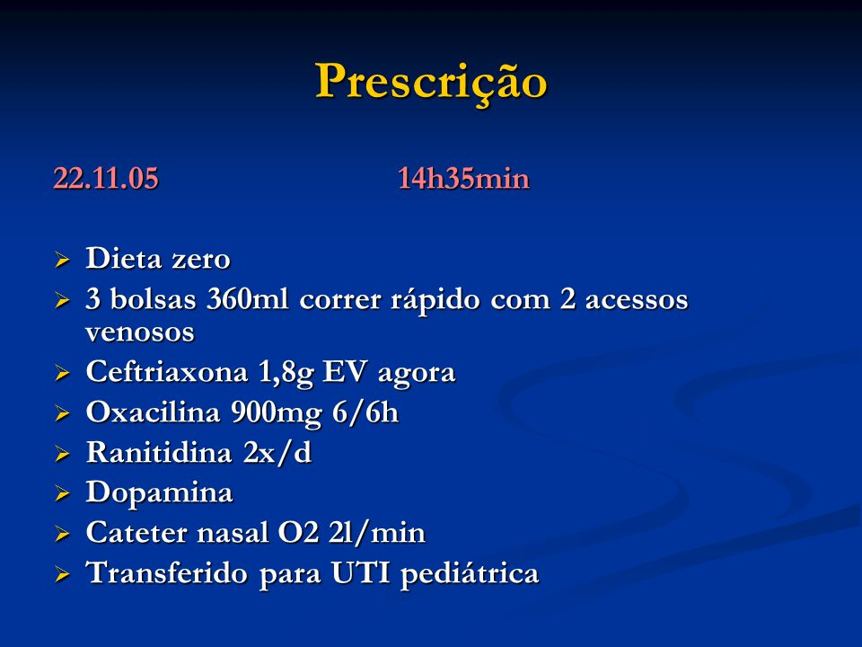 Prescrição 22.11.05 14h35min Dieta zero