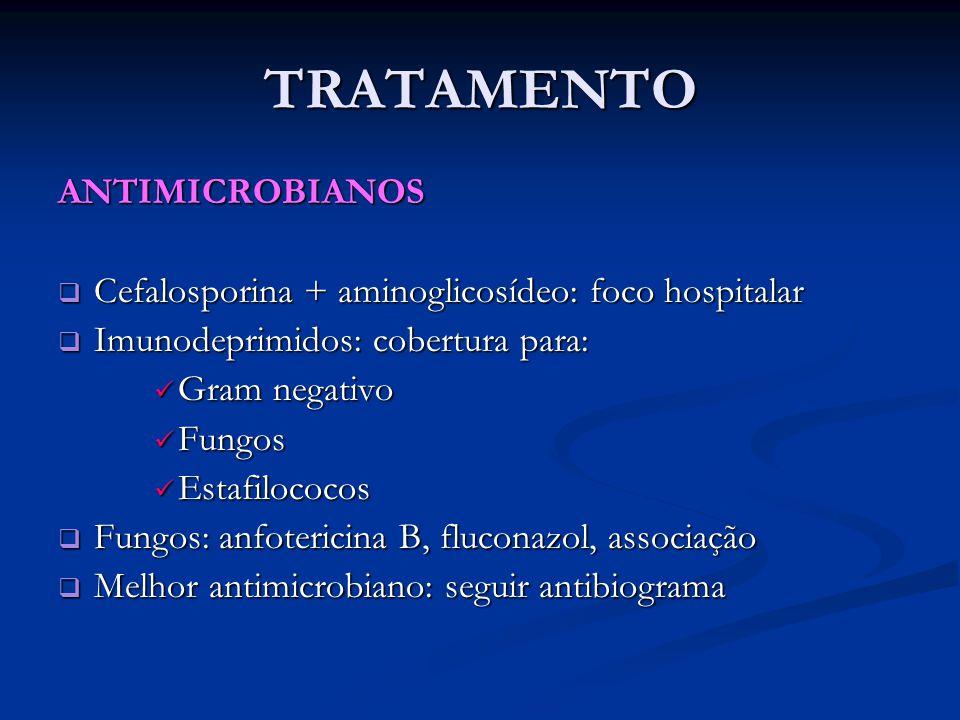 TRATAMENTO ANTIMICROBIANOS
