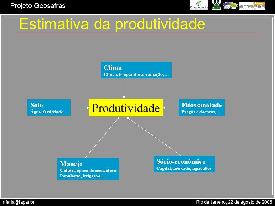 Estimativa da produtividade