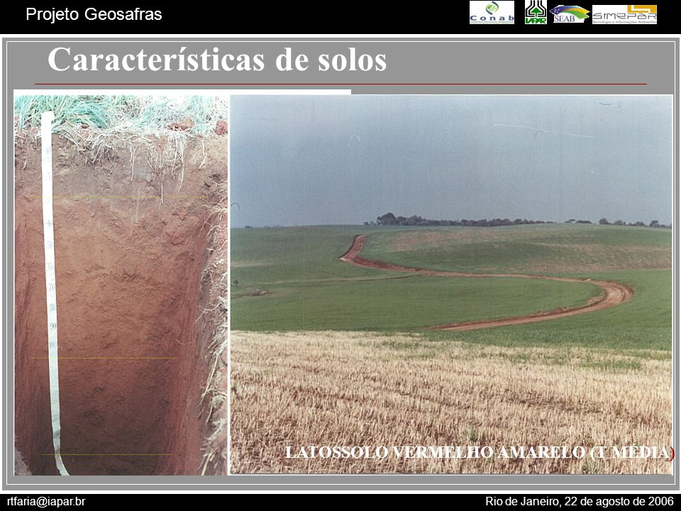 Características de solos