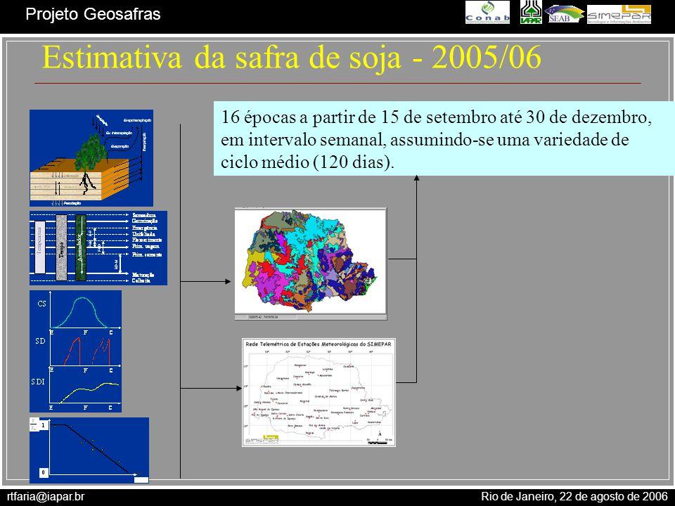 Estimativa da safra de soja - 2005/06
