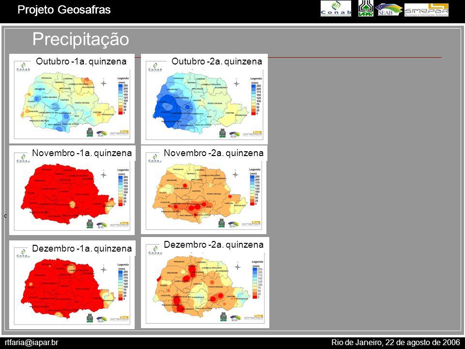 Precipitação Projeto Geosafras Outubro -1a. quinzena