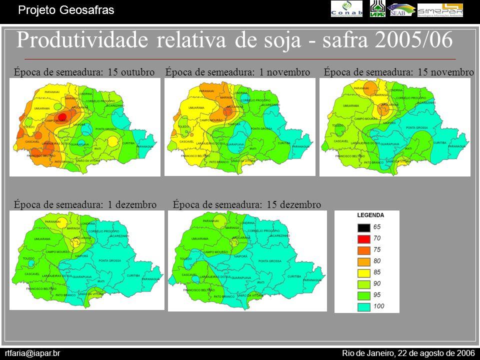 Produtividade relativa de soja - safra 2005/06